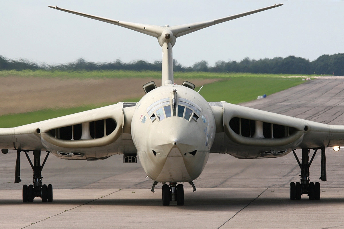 The Handley Page Victor was a British jet-powered strategic bomber, developed and produced by the Handley Page Aircraft Company, which served during the Cold War.