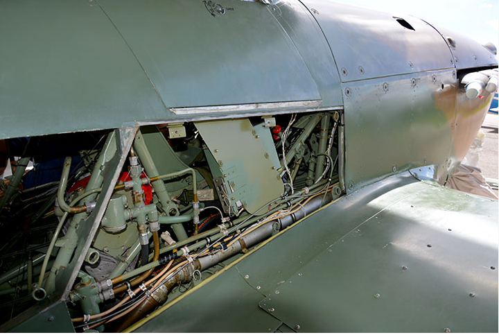 Hawker Hurricane C/N 60372, C-FDNL, Mk XII / IIB Serial No 5481 fuselage ( Image by John Parker)