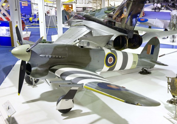 "Hawker Typhoon IB, MN235 on display at RAF Museum Hendon, where she has resided for many years. The ""Tiffie"" will soon be on her way to Canada, where she will go on display at the Canada Aviation & Space Museum in Ottawa, Ontario. (photo via RAF Museum)"