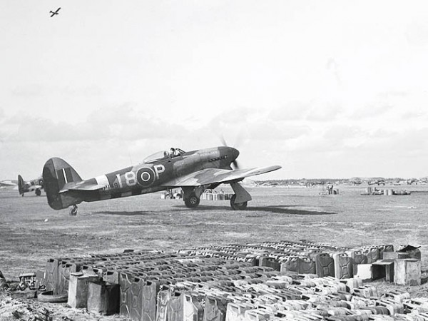 "Hawker Typhoon of No. 440 ""City of Ottawa"" Squadron RCAF. (photo via wikipedia)"