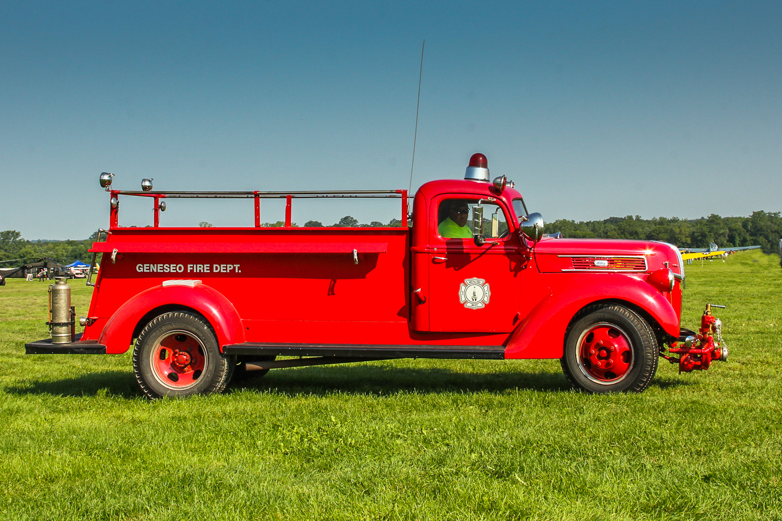 1939 Ford fire truck; one of several vintage firefighting vehicles on display. (photo by Tom Pawlesh)