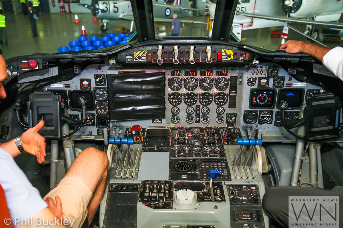 Another view of the HARS Orion's cockpit. One of the panels is covered in plastic tape, which likely covers one of the displays removed during the demil process. (photo by Phil Buckley)