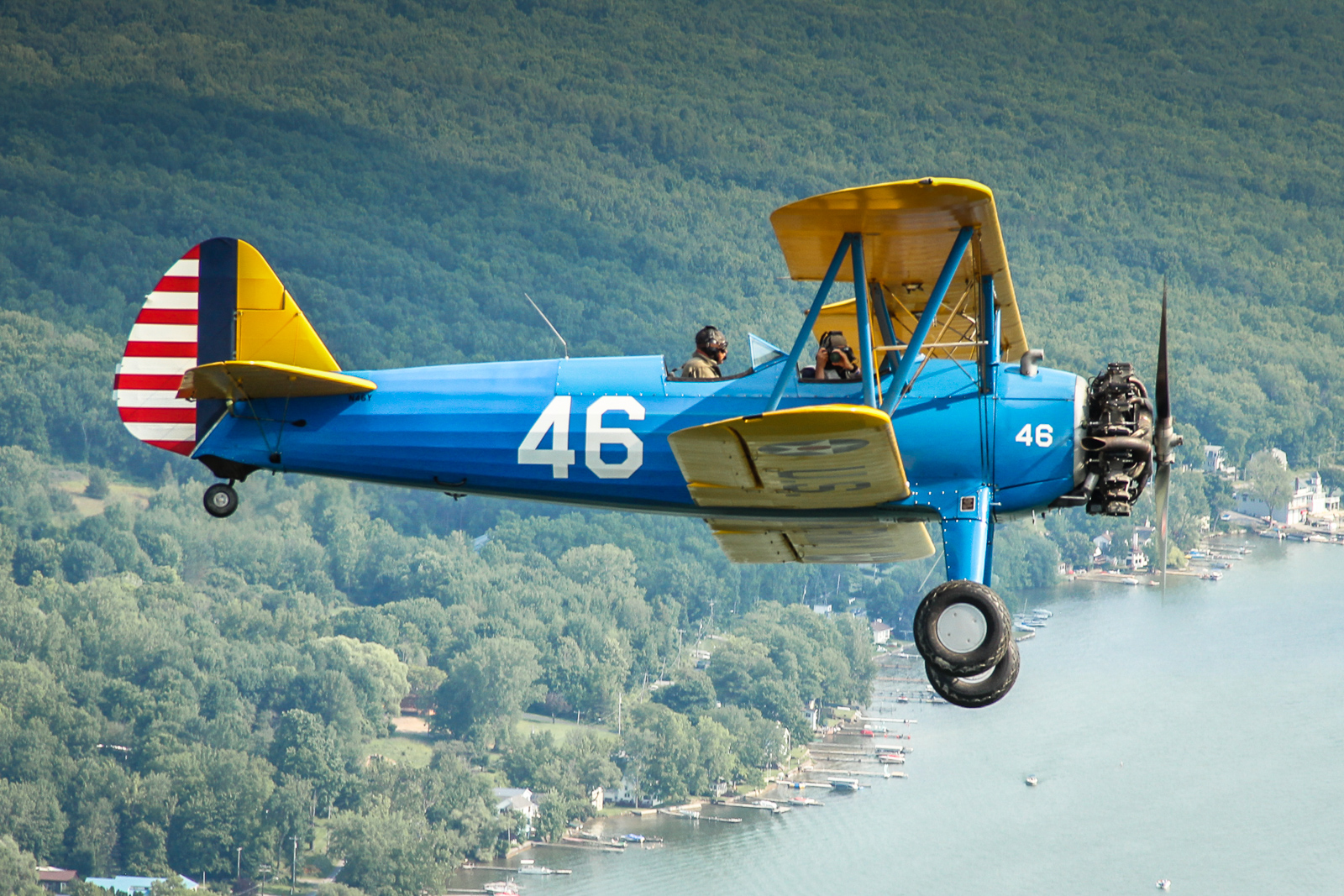 Stearman flown by Quentin Marty. (photo by Tom Pawlesh)