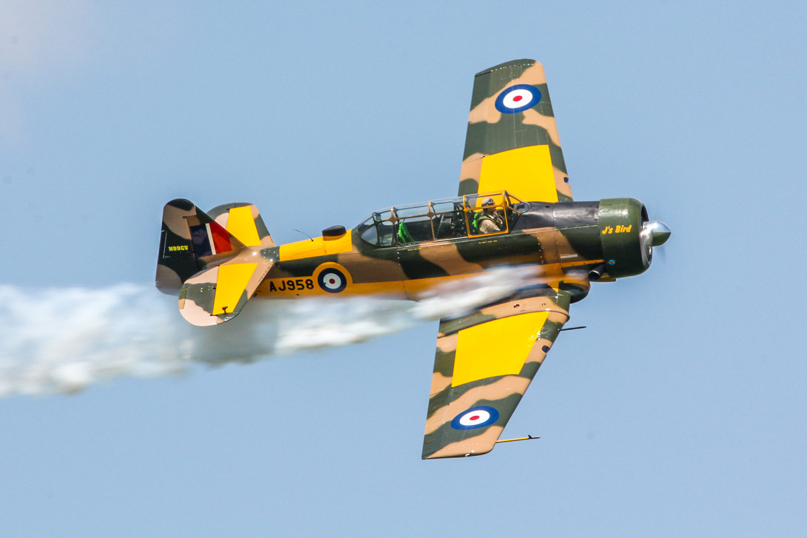 John 'Skipper' Hyle in a Harvard Mk.4. (photo by Tom Pawlesh)