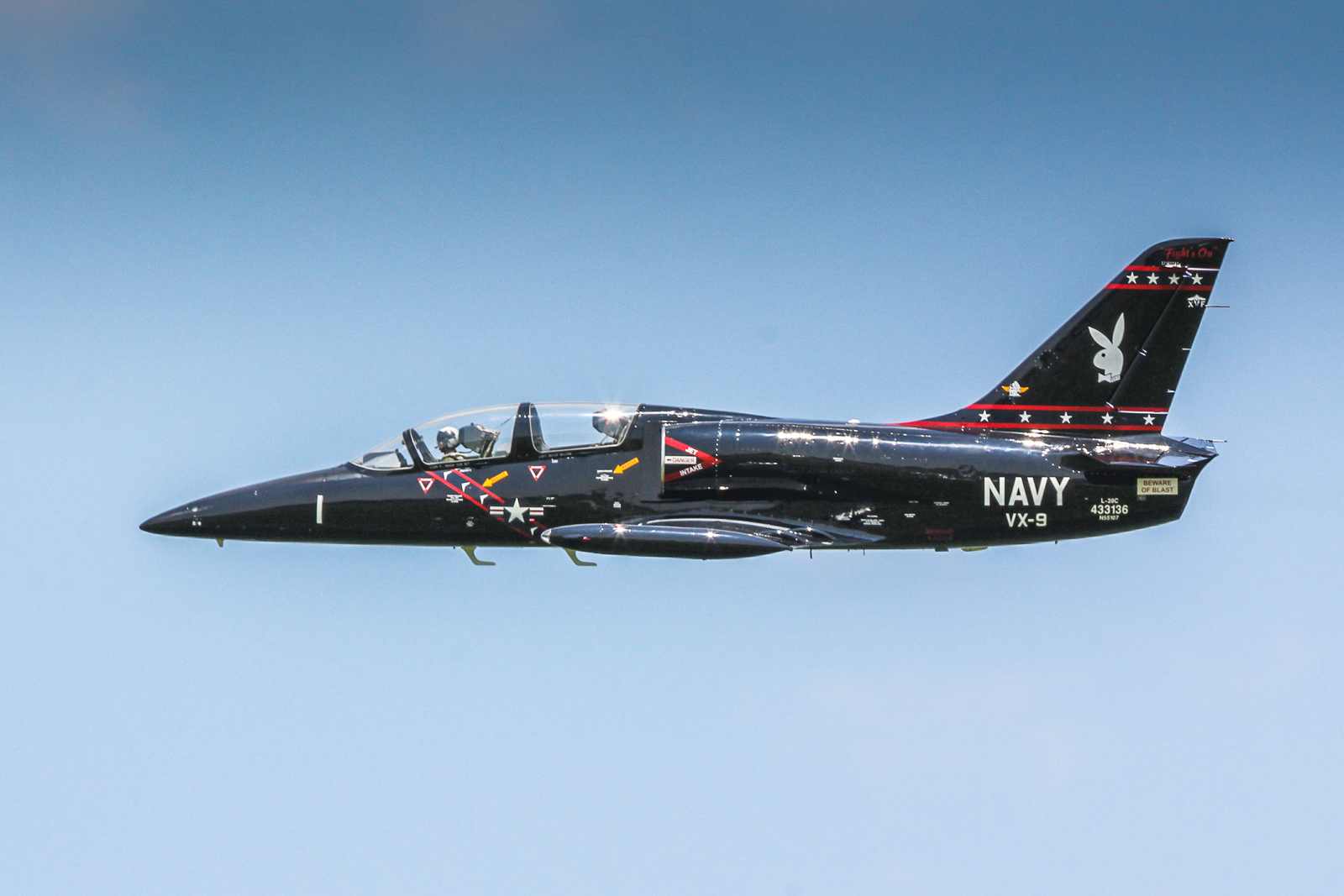 Mark 'Crunchy' Burgess in his L-39C Albatross. (photo by Tom Pawlesh)