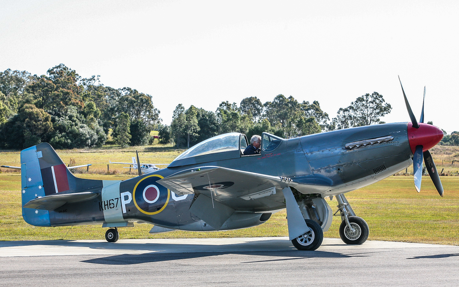 Judy Pay's marvelous CAC-built North American Mustang made a rare appearance at the show. (photo by Phil Buckley)