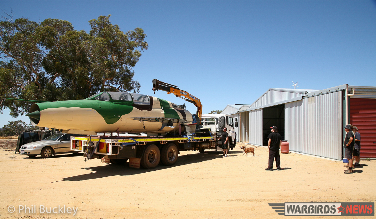 Another shot of the arrival at White Gum Farm. (image by Phil Buckley)