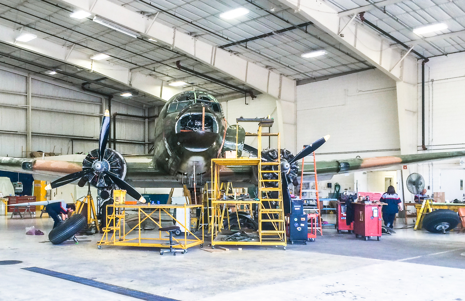 'That's All Brother' in one of Basler Turboprop Conversion's hangars undergoing restoration. (photo by Ryne Treatch)