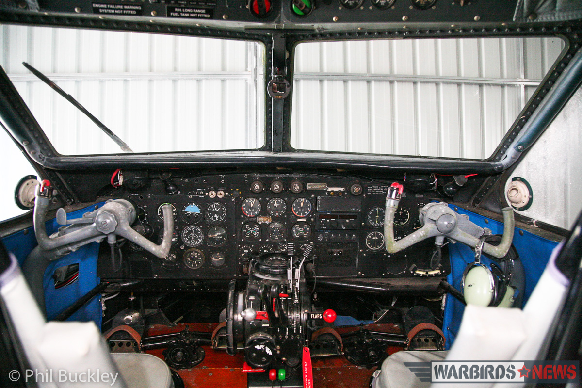 The immaculate-looking cockpit. (photo by Phil Buckley)