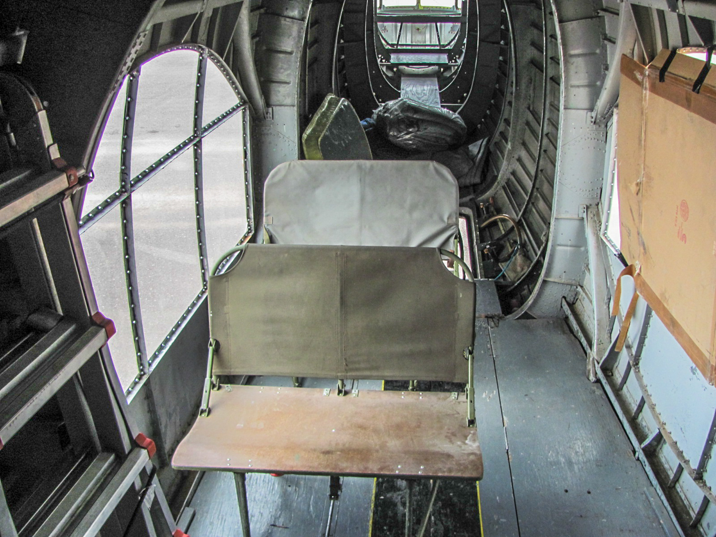GossHawk also replaced the floor and added crew seats in the waist section. (GossHawk Unlimited photo)