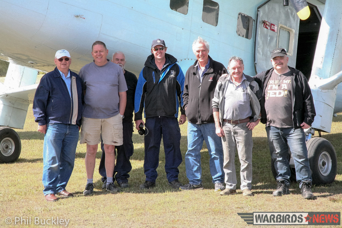 The crew of volunteers who dedicate so much time to resurrecting VH-EVB. (photo by Phil Buckley)