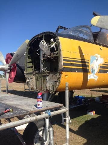 The Invader following removal of her nose assembly. (Photo via Reevers)