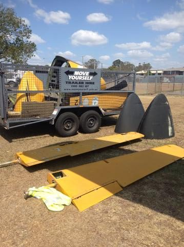 Some of the Invader's disassembled control surfaces and other parts being readied for the 1,200 mile journey to Parafield Airport in Adelaide, South Australia. (Photo via Reevers)