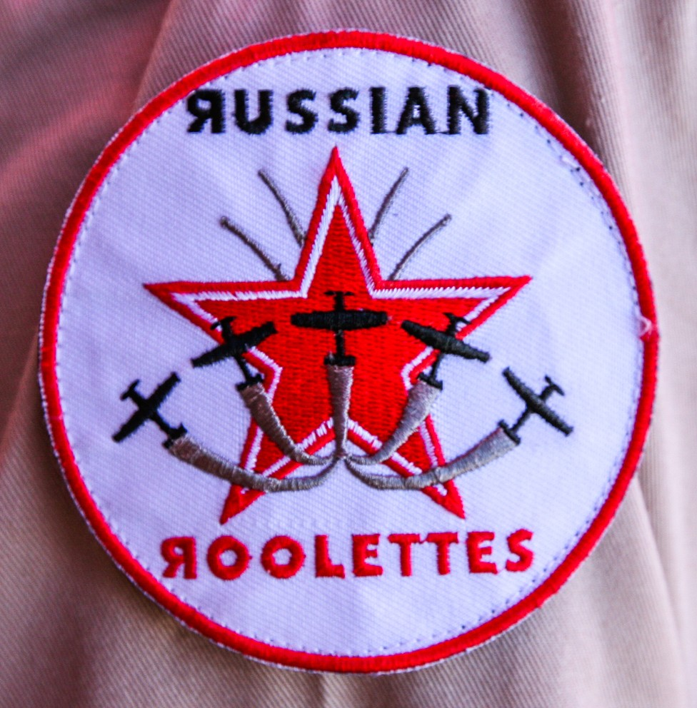 The Russian Roulettes shoulder patch. (photo by Phil Buckley)