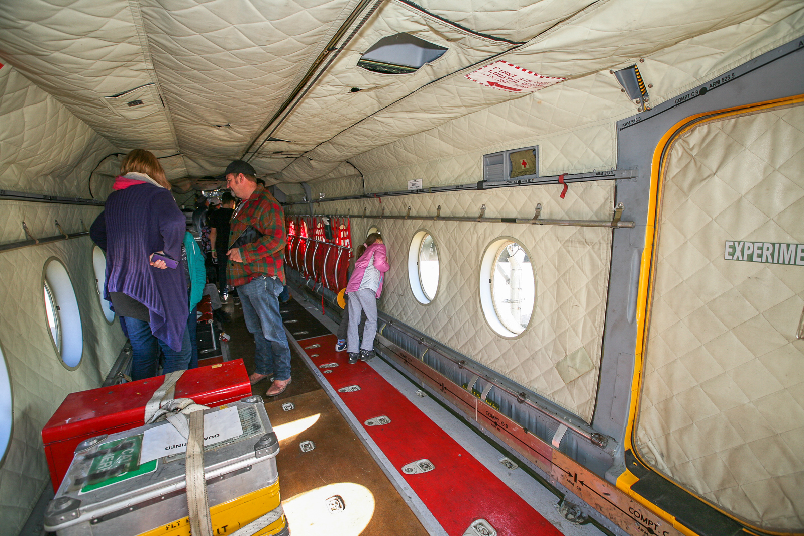 Inside the Caribou's cargo hold. (photo by Phil Buckley)