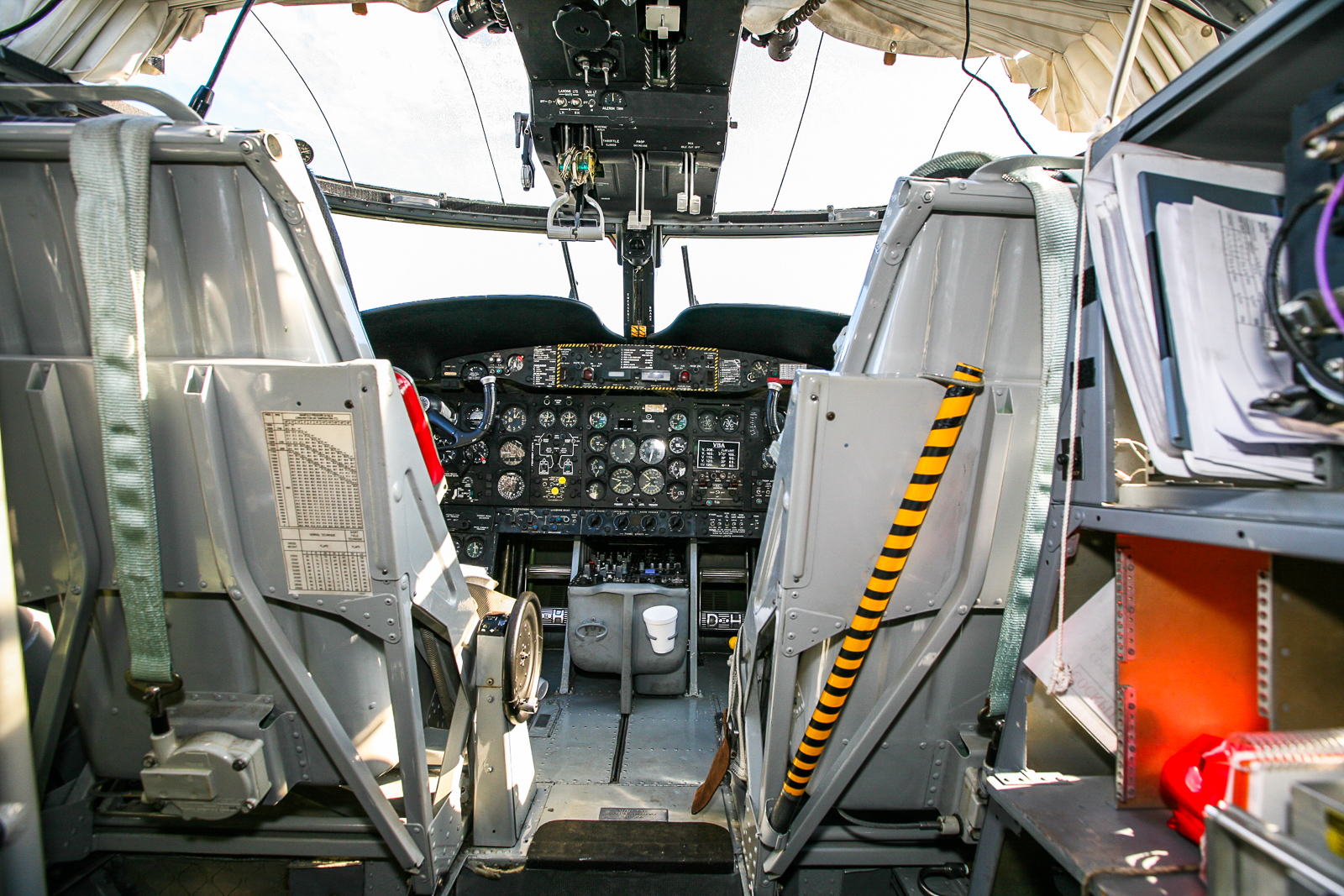 The Caribou's cockpit. (photo by Phil Buckley)