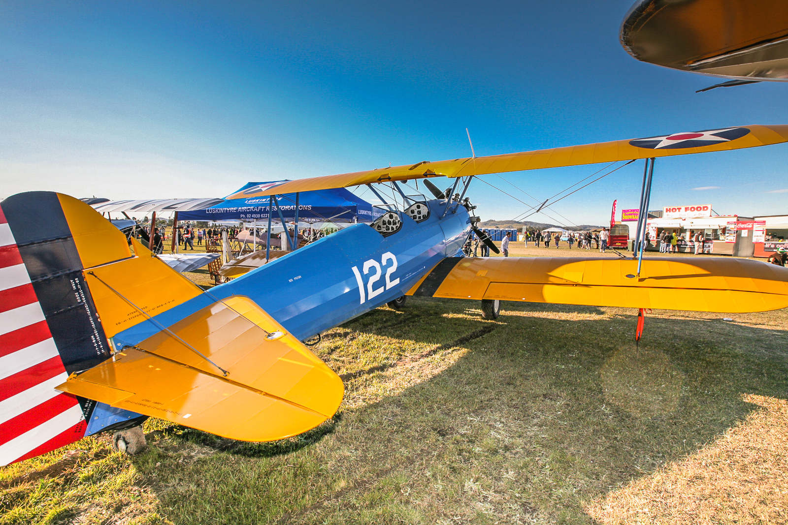 One of several WWII-era biplane trainers on display at Maitland. (photo by Phil Buckley)