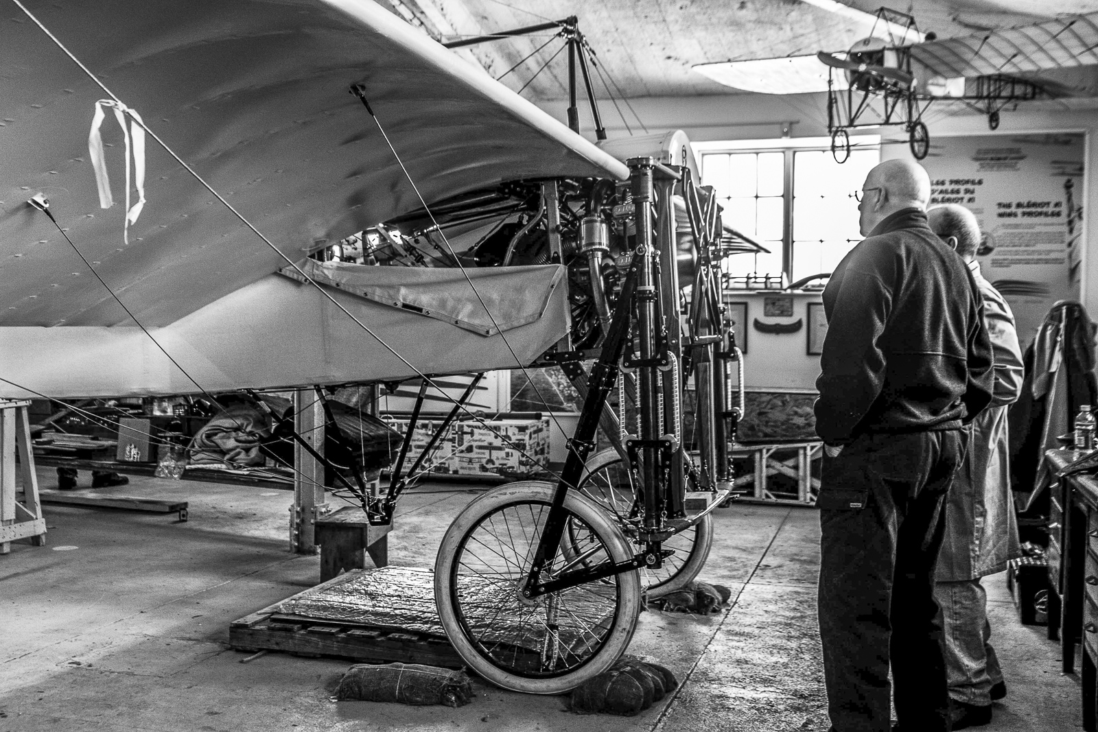 The Bleriot under construction. (photo via Benoit deMulder)
