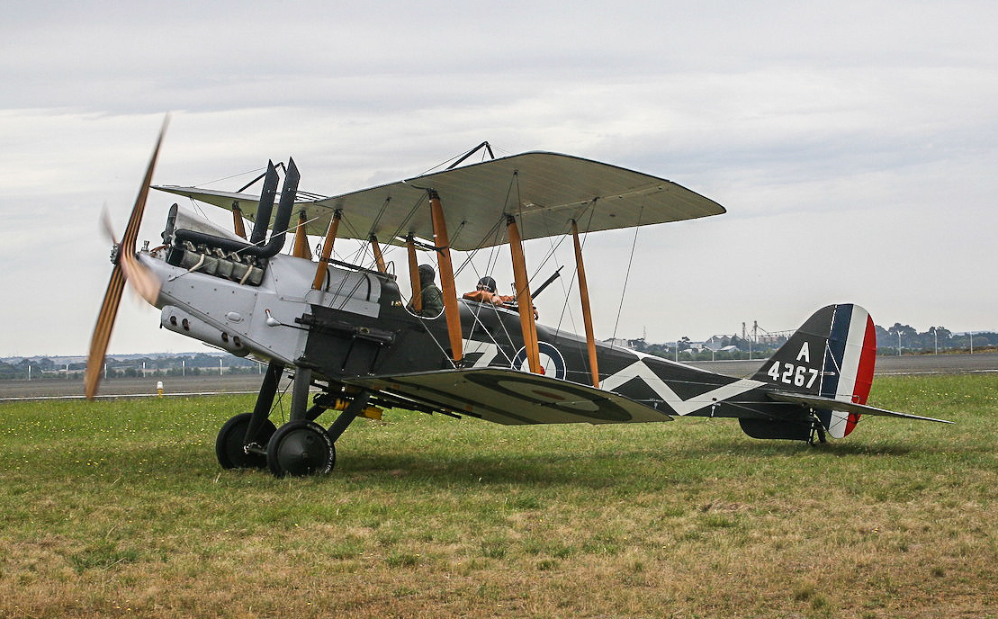 The Vintage Aviator's RE8 taxiing out for takeoff at Avalon. (Andrew McLennan photo)