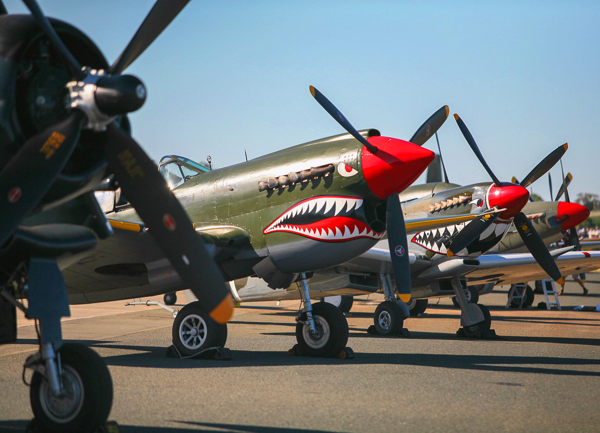 Fighter lineup. (photo by Phil Buckley)