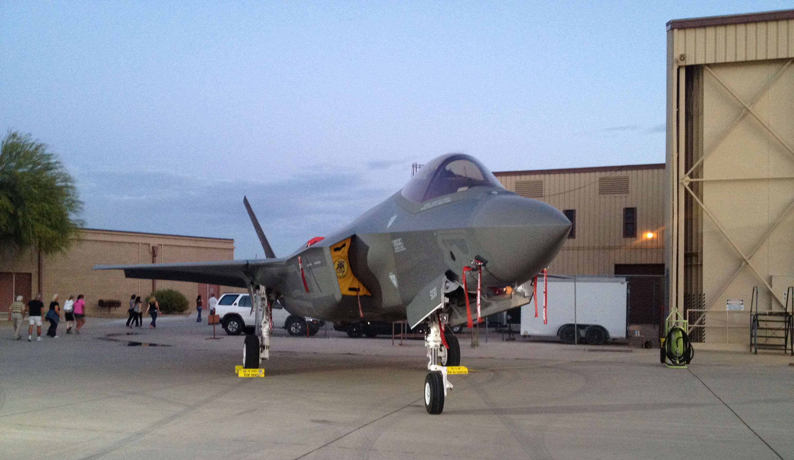 The US Air Force's F-35A Lightning II at the Luke Air Force Base air show in March, 2014. (photo by Matt Jolley)