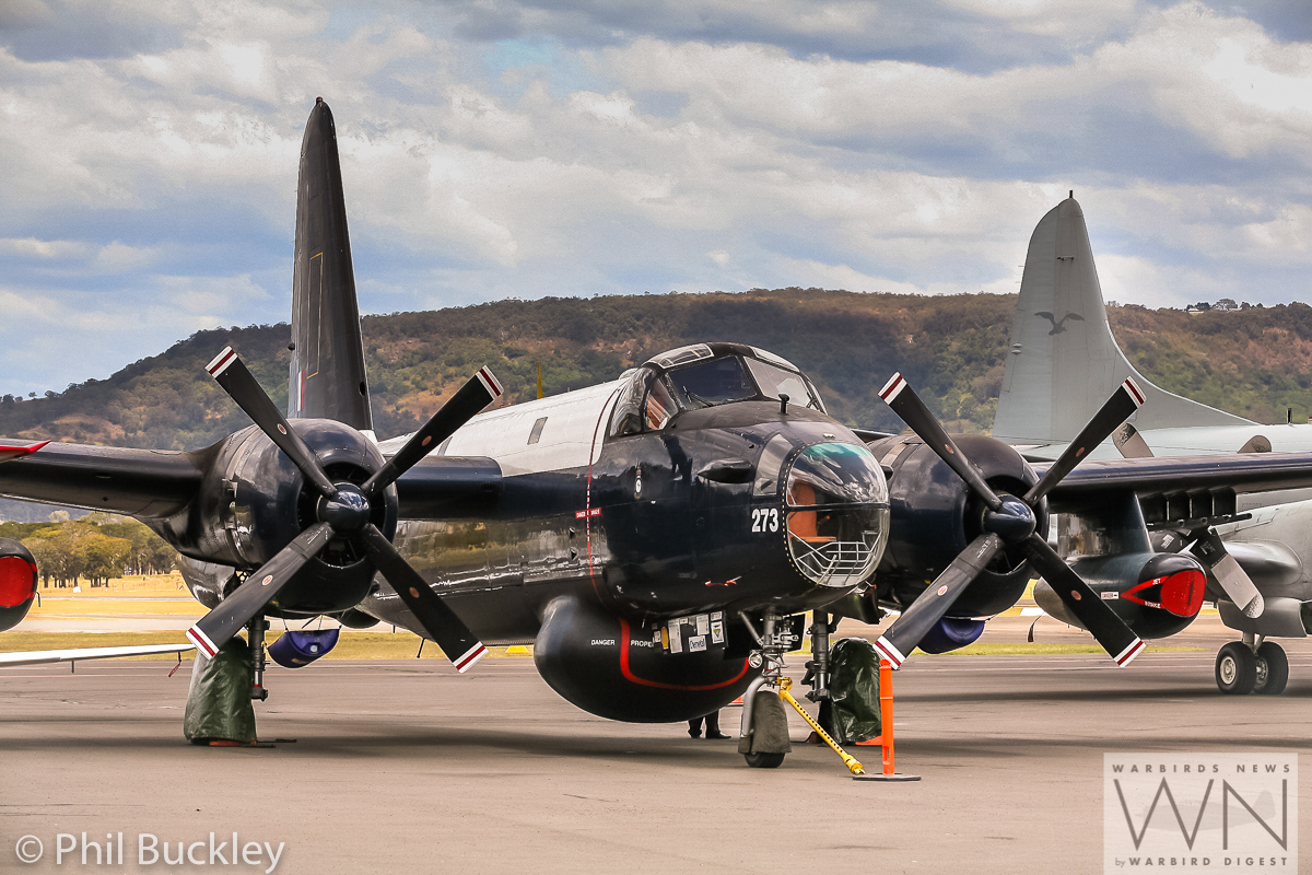 One of HARS four Lockheed Neptune antisubmarine patrol aircraft. This is A89 -273, which HARS still flies regularly. (photo by Phil Buckley)