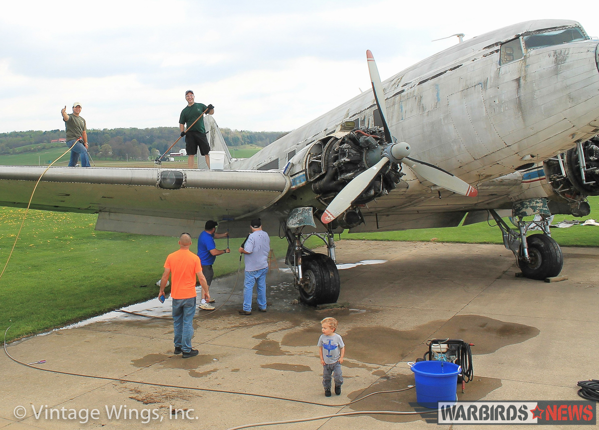 Beach City Baby receiving already receiving some TLC with Vintage Wings Inc. (photo via Vintage Wings Inc.)