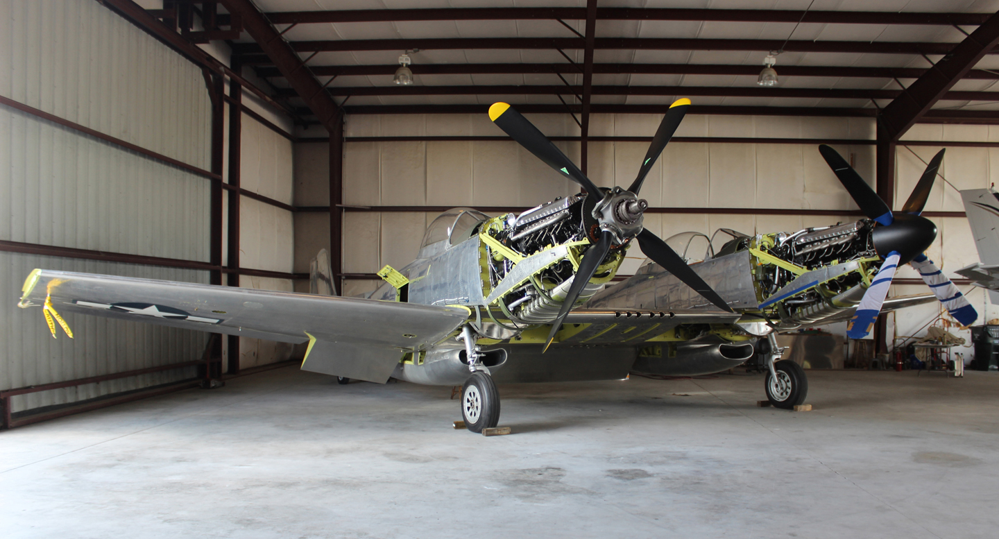 The XP-82 is getting really close to completion! (photo via Tom Reilly)