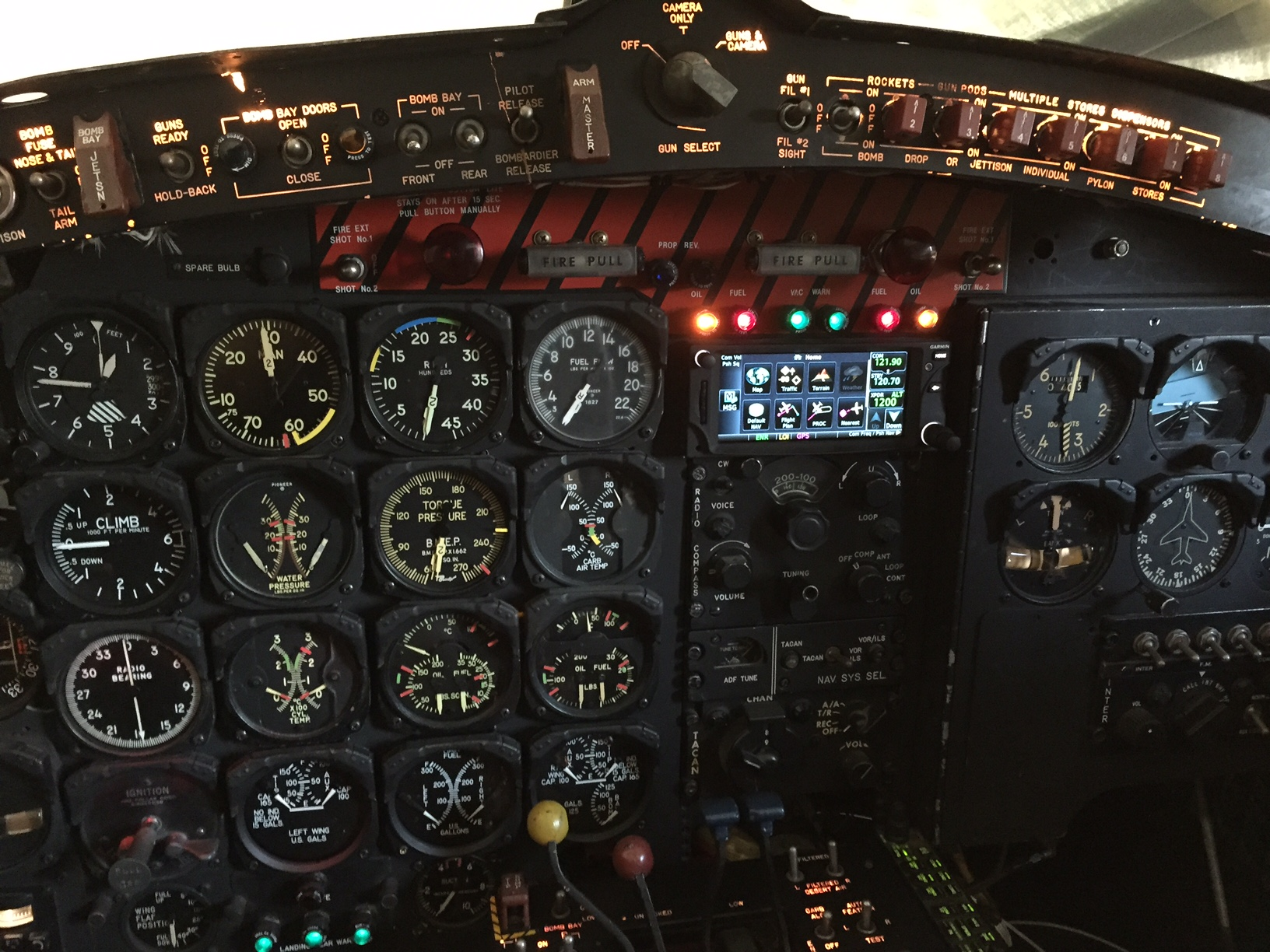Instrument panel fully restored. (photo by Jim Reynolds)