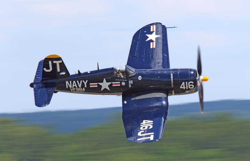 With your help, Jim Tobul in his magnificent F4U-4 will be flying over Pearl Harbor to celebrate VJ-J Day. (photo  Craig M. Scaling)