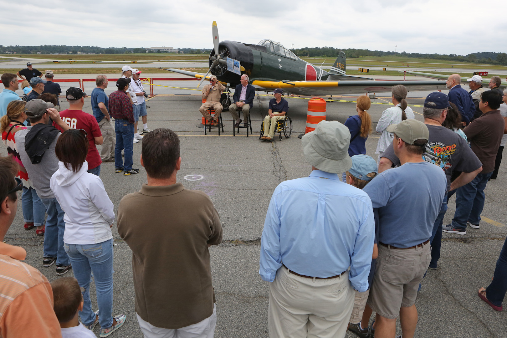 "In inspired by the more famous Oshkosh's Warbird Alley ""Warbirds In Review"", the AWW educational sessions were a great success amongst the crowd. ( Photo by John Willhoff)"