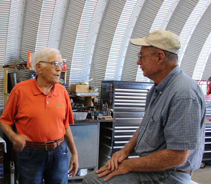Former F-82 Twin Mustang pilot, Jim Sampson (l) and Tom Reilly (r). (photo via Tom Reilly)