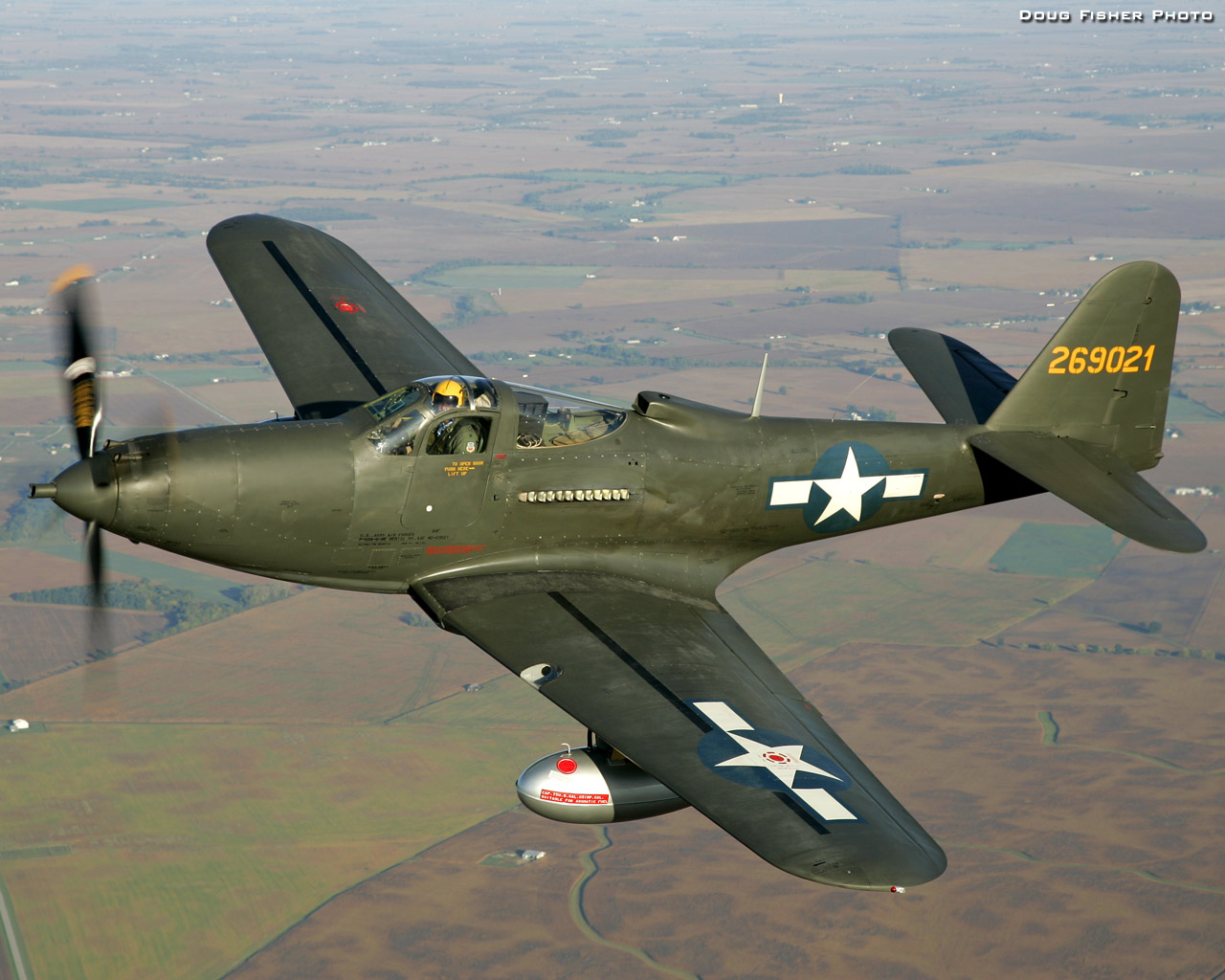 John Bagley is the owner and operator of this rare Bell P-63C-5 Kingcobra (S/N 43-11223). Photo by Doug Fisher