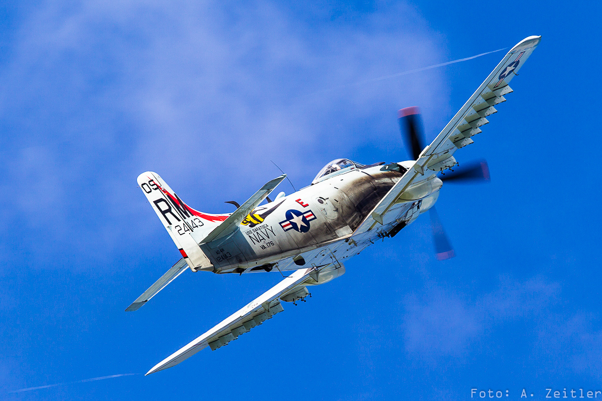 One of three Douglas Skyraiders at the show.