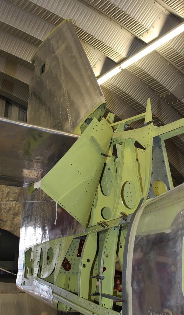 Lefthand aft fuselage extension. (photo via Tom Reilly)