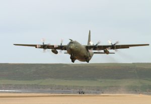 Taking off from the Saunton Sands. (Image credit: Royal Air Force)