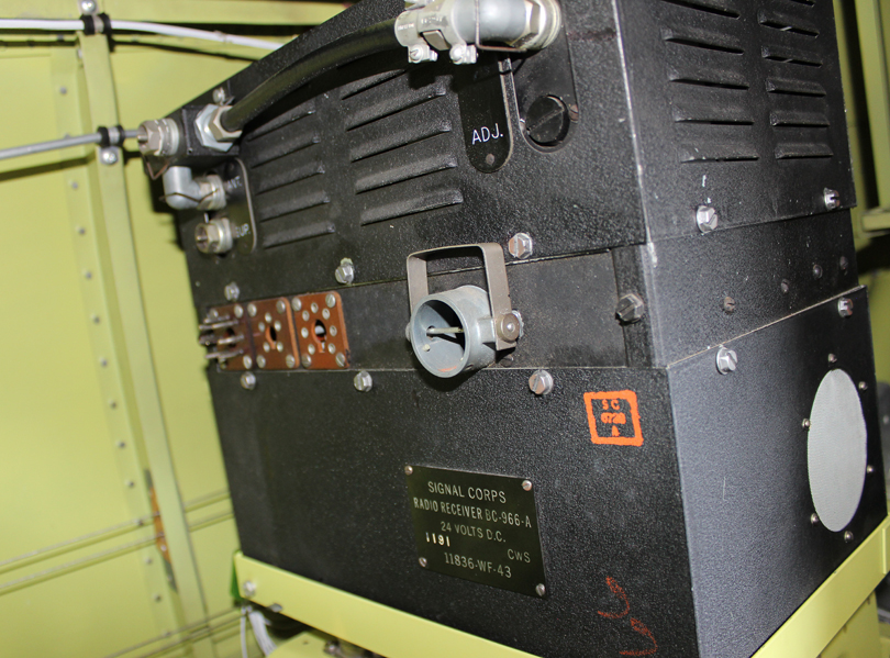 The BC-966-A Receiver, the last original radio needing installation. (Photo via Tom Reilly)