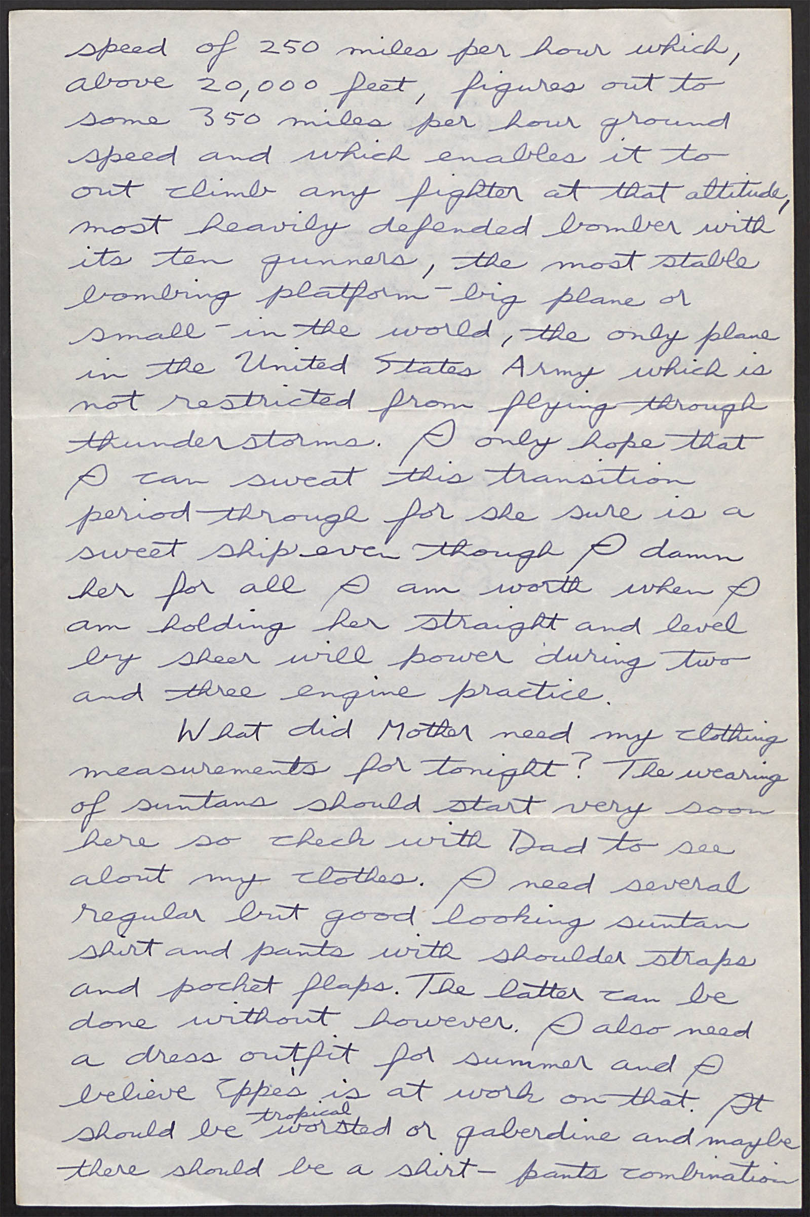 Letter to sister Bernice_April 3_1944_first flight in B-17_Page2