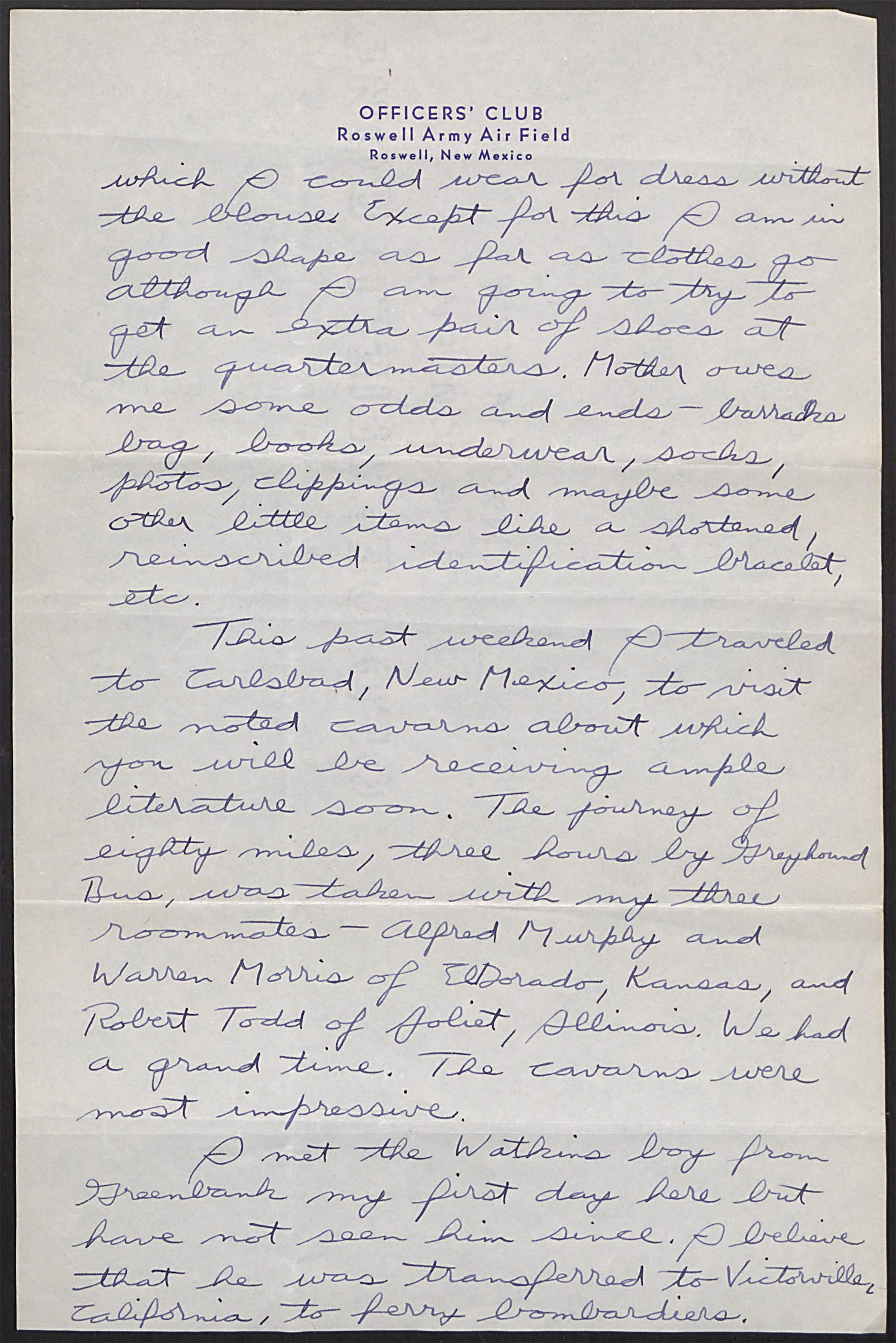 Letter to sister Bernice_April 3_1944_first flight in B-17_Page3