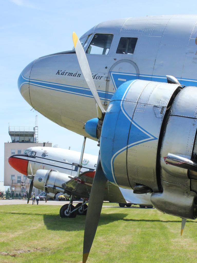 The Lisunov Li-2 marked in vintage Malev colors as HA-LIX. (photo by Geoff Jones)