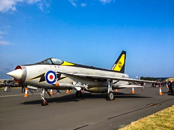 Lightning F.3 XR713 on display in its celebratory 111 Squadron markings at the RAF Leuchars air show. (photo - Tom Moran of Urban Ghosts.com)