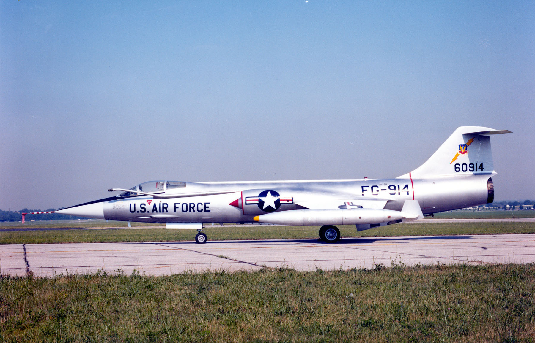 DAYTON, Ohio -- Lockheed F-104C Starfighter at the National Museum of the United States Air Force. (U.S. Air Force photo)
