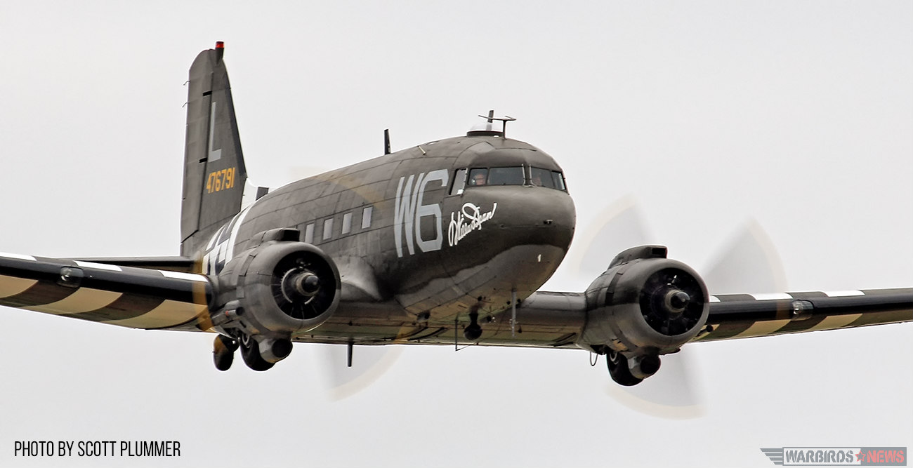 Lyon Air Museum's C-47 Flying During the Army Air Corps Segment