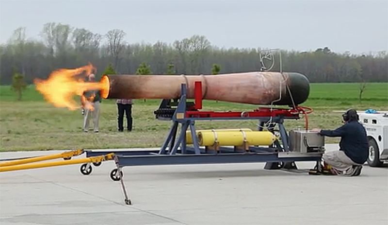 The Military Aviation Museum test running it's V-1 Doodlebug pulse-jet engine. (image still from MAM video)