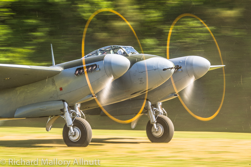 Highlight of the air show for many will be the opportunity to see the worlds only airworthy deHavilland Mosquito FB.26 take to the skies. (photo by Richard Mallory Allnutt)