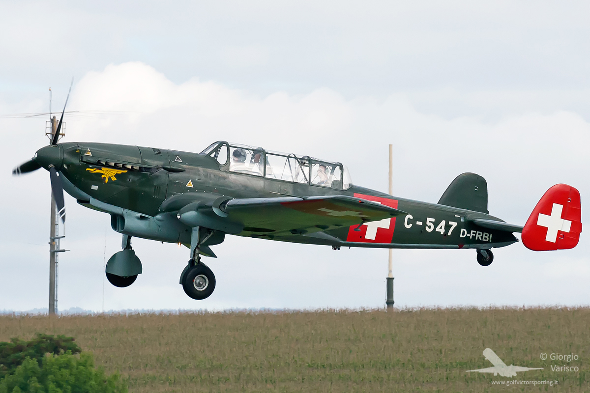 A very rare Swiss designed and built EKW C-3603 ground attack aircraft from WWII, recently rebuilt by Meier Motors in Germany. (photo by Giorgio Varisco)