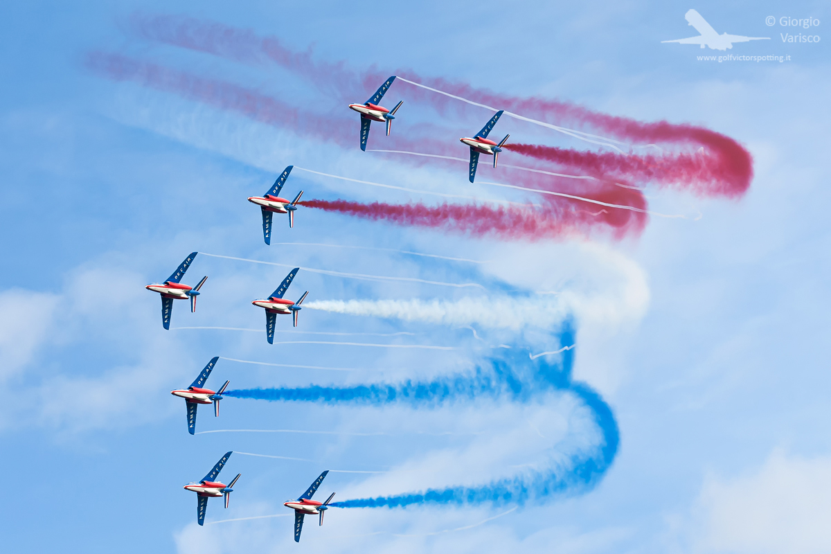 The French Air Force's Patrouille de France gave a spectacular performance as ever. (photo by Giorgio Varisco)