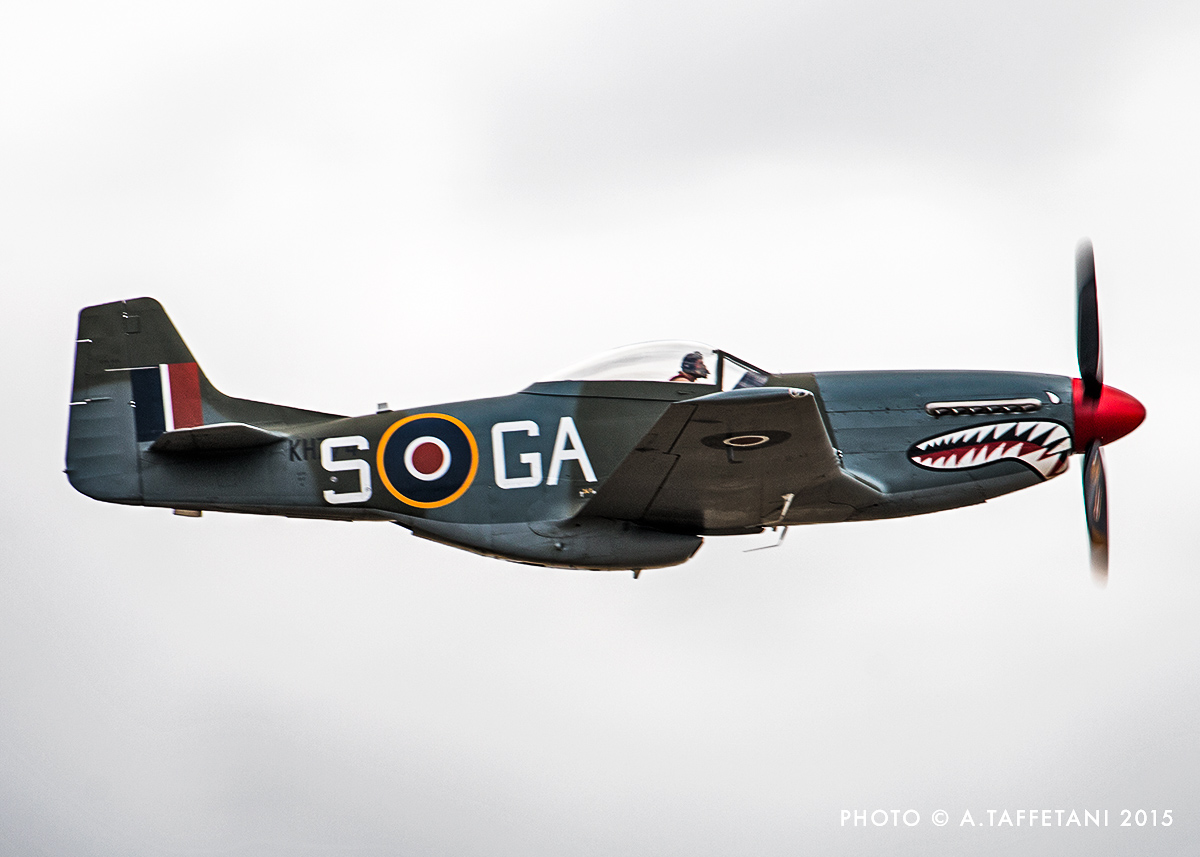 A closeup of the P-51D in RAF 112 Squadron markings. (photo by Alessandro Taffetani)