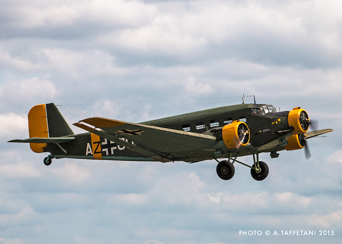 EADS Junkers Ju-52 made a welcome return to Duxford. (photo by Alessandro Taffetani)