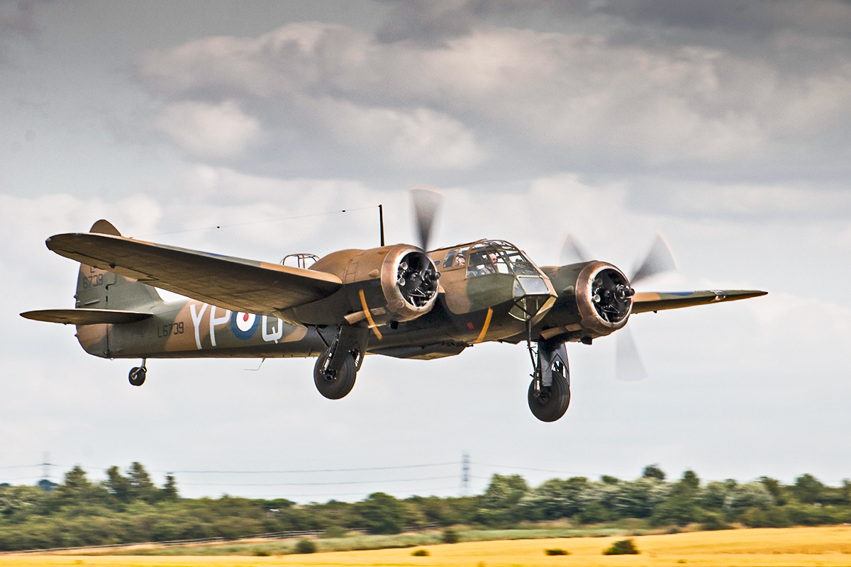 The magnificent Bristol Blenheim, superbly restored from a Canadian Bolingbroke Mk.IV into a Blenheim Mk.I by the Aircraft Restoration Company. (photo by Alessandro Taffetani)